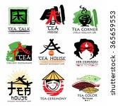tea house logo. tea ceremony... | Shutterstock .eps vector #365659553