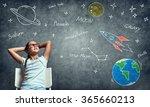 she is little nerd | Shutterstock . vector #365660213
