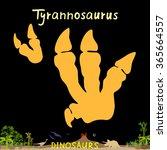 Постер, плакат: Tyrannosaurus dinosaur fossil footprint