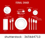 formal dinner place settings