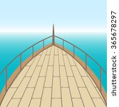 afterdeck of a boat and a sea.... | Shutterstock .eps vector #365678297