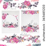 floral background with a pink... | Shutterstock . vector #365685203