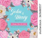 flower wedding invitation card  ... | Shutterstock .eps vector #365688557