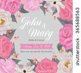 flower wedding invitation card  ... | Shutterstock .eps vector #365688563