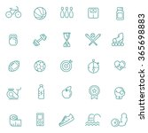 outline web icon set   sport... | Shutterstock .eps vector #365698883
