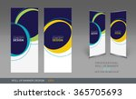 professional roll up concept... | Shutterstock .eps vector #365705693