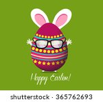 happy easter greeting card | Shutterstock .eps vector #365762693