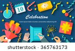 celebration background with... | Shutterstock .eps vector #365763173