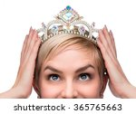 beauty queen pageant winner... | Shutterstock . vector #365765663