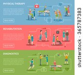 physiotherapy horizontal... | Shutterstock .eps vector #365787383