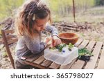 Child Girl Exploring Nature In...