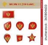 montenegro flag set  flag set... | Shutterstock . vector #365804603
