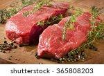 Raw Beef Steak. Selective Focus