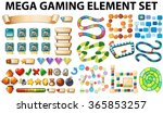 game elements and template... | Shutterstock .eps vector #365853257