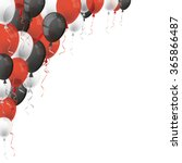 Red  White And Black Balloons...