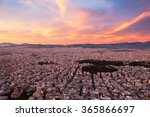 panorama of athens at sunset | Shutterstock . vector #365866697