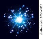 glow light effect. star burst... | Shutterstock .eps vector #365868017