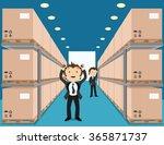 vector illustration. warehouse... | Shutterstock .eps vector #365871737