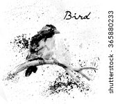 bird on a branch in ink and... | Shutterstock . vector #365880233
