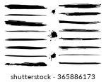 vector set of black grungy...   Shutterstock .eps vector #365886173