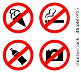 signs forbidding different... | Shutterstock .eps vector #365887427