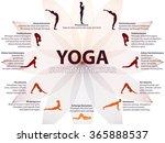 yoga infographics  surya... | Shutterstock .eps vector #365888537