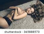 stunning blonde woman with long ... | Shutterstock . vector #365888573