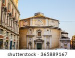 Small photo of ROME, ITALY - 11TH MARCH 2015: The outside of San Bernardo alle Terme abbatial Church in room during the day