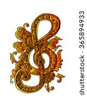 music key doodle style | Shutterstock .eps vector #365894933