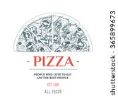 pizza design template. vector... | Shutterstock .eps vector #365899673