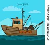 fishing boat  simple...