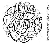 valentines day card design.... | Shutterstock . vector #365922257
