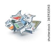 vector illustration of isolated ... | Shutterstock .eps vector #365933543