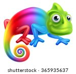 A Cute Cartoon Rainbow Coloure...