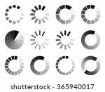 set of modern preloaders | Shutterstock .eps vector #365940017