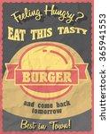 hot  tasty  delicious burger.... | Shutterstock .eps vector #365941553