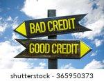 good credit   bad credit...   Shutterstock . vector #365950373