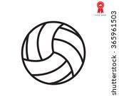volleyball ball | Shutterstock .eps vector #365961503