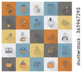 business and finance icon set | Shutterstock .eps vector #365967293