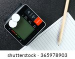 the blood pressure monitor put... | Shutterstock . vector #365978903