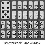 vector modern domino set on... | Shutterstock .eps vector #365983367