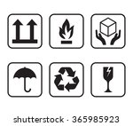 vector set of symbols for... | Shutterstock .eps vector #365985923