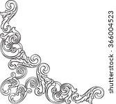 baroque nice art corner is... | Shutterstock .eps vector #366004523