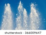 water fountain with blue sky | Shutterstock . vector #366009647