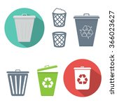 recycle bin icon | Shutterstock .eps vector #366023627