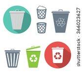 recycle bin icon | Shutterstock .eps vector #366023627
