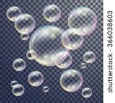 soap colorful transparent... | Shutterstock .eps vector #366038603