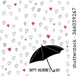 hand drawn valentines card.... | Shutterstock .eps vector #366059267