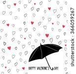 hand drawn valentines card.... | Shutterstock .eps vector #366059267