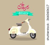 scooter isolated. fast delivery.... | Shutterstock .eps vector #366060617